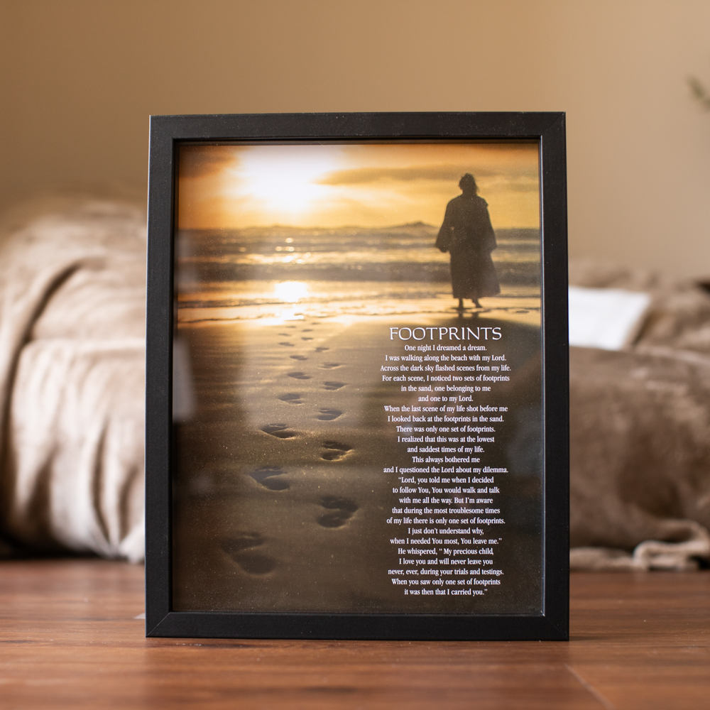 Footprints Framed Poem