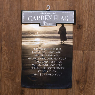 Footprints Poem Garden flag