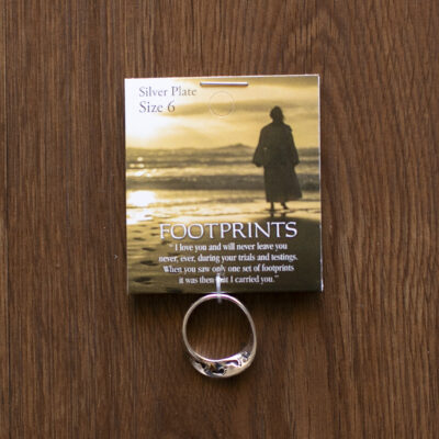 Footprints Mobius Ring